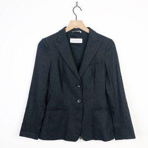 Max Mara Gray Virgin Wool Double Button Blazer 6